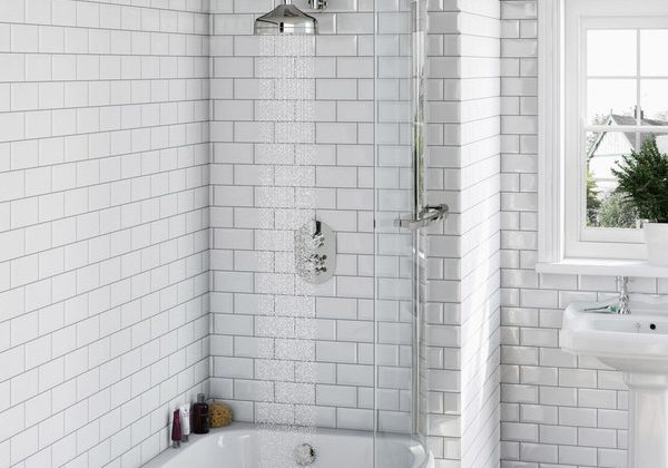 The Bath Co. Camberley thermostatic bath filler and shower set