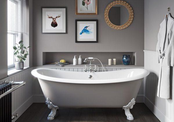 The Bath Co. Dover keystone cast iron bath
