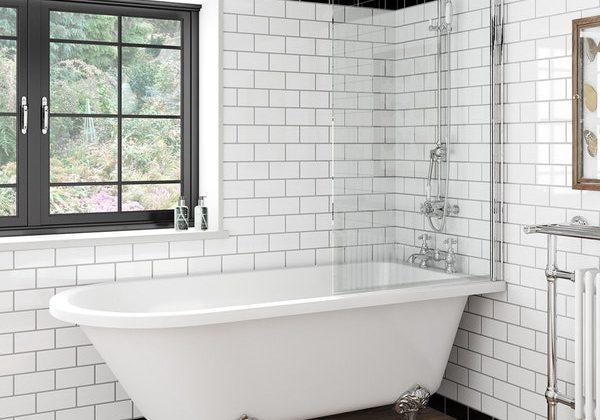 The Bath Co. Dulwich shower bath and bath screen